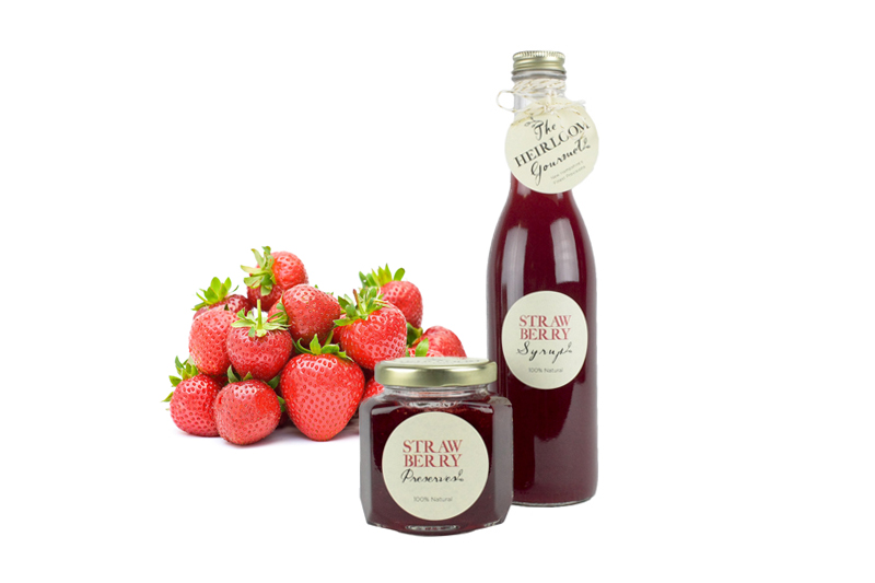 Strawberry Syrup and Preserves